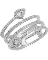 Kenza Lee - Spiral Diamond Ring - Lyst