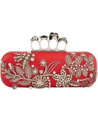 Alexander McQueen - Long Leather Knuckle Clutch - Lyst