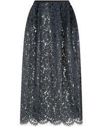 Les Copains - Floral Lace Midi Skirt - Lyst