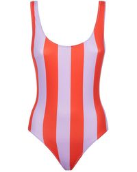 9797619339 Solid & Striped - Anne-marie Striped Swimsuit - Lyst