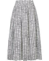 Peserico - Printed A-line Skirt - Lyst