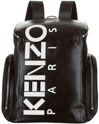 KENZO   Large Logo Backpack, Black, One Size   Lyst
