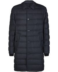 Burberry - Flannel Down Car Coat - Lyst