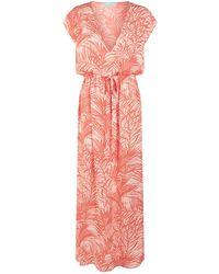 Melissa Odabash - Delilah Palm Print Maxi Dress - Lyst