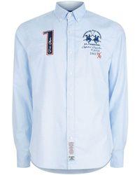 La Martina - Oxford Stretch Shirt - Lyst