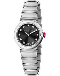 BVLGARI - Stainless Steel Lvcea Watch 28mm - Lyst