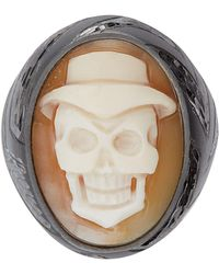 Amedeo - Angry Skull Ring - Lyst