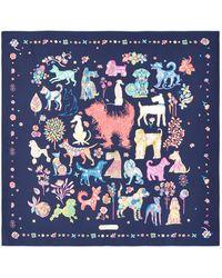 Ferragamo - Dog Print Silk Scarf - Lyst