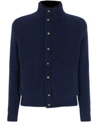 Isaia - Cashmere Double Layer Cardigan - Lyst