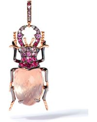 Annoushka - Rose Gold And Quartz Beetle Charm - Lyst