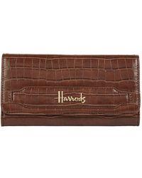 Harrods - Chatsworth Crocodile-effectwallet - Lyst