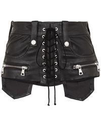 Unravel - Leather Corset Belt - Lyst