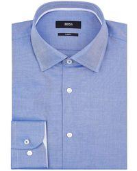 BOSS - Textured Print Shirt - Lyst