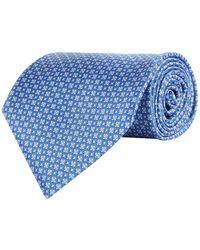 Stefano Ricci - Silk Geometric Floral Printed Tie - Lyst