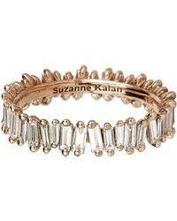 Suzanne Kalan - Rose Gold Baguette Diamond Ring - Lyst