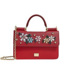 Lyst - Dolce   Gabbana Medium Sicily Floral Print Dauphine Bag in Red dd36d1bde3