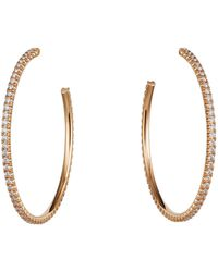 Cartier - Large Pink Gold And Diamond Tincelle De Earrings - Lyst