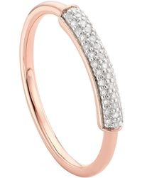 Monica Vinader | Fiji Diamond Stacking Ring | Lyst