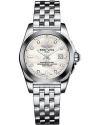 Breitling - Stainless Steel Galactic Sleek Quartz Watch 29mm - Lyst