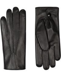Harrods - Rabbit Fur-lined Leather Gloves - Lyst
