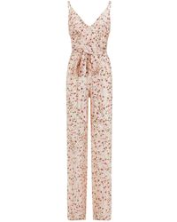 Paloma Blue - Floral Silk Jumpsuit - Lyst