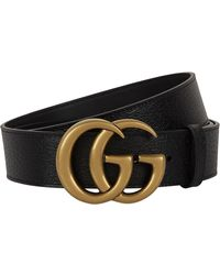 7b49f852a915 Gucci Gg Marmont Reversible Leather Belt in Black for Men - Lyst