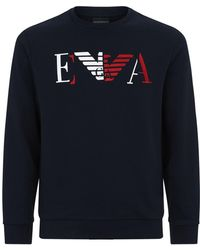 Emporio Armani - Eagle Logo Sweater - Lyst