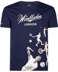 0326b6fb Polo Ralph Lauren Wimbledon Custom-fit Flag T-shirt in Blue for Men ...