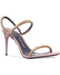 Cheap Sale Order gold-tone chain sandals - Black Tom Ford Cheap Sale Amazon Shop Cheap Price 4JTq1JjCAf