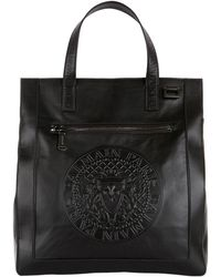 Balmain - Embossed Leather Tote - Lyst