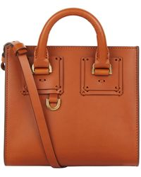 Sophie Hulme   Leather Albion Box Tote Bag   Lyst