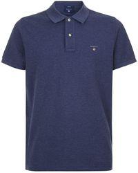 GANT - Logo Polo Shirt - Lyst