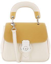 Burberry - Small Dk88 Top Handle Bag, Grey - Lyst
