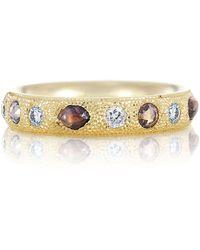 De Beers - Yellow Gold Talisman Half Pav Ring - Lyst