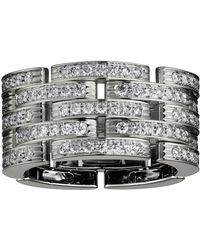 Cartier - White Gold And Diamond Maillon Panthre 5 Row Ring - Lyst