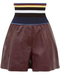 Sportmax - Leather Carella Shorts - Lyst