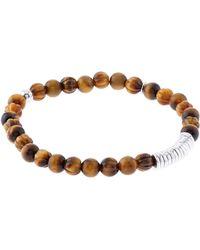Tateossian - Bamboo Tiger Eye Bracelet - Lyst