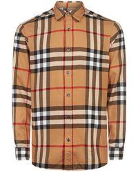 Burberry - Cotton Check Shirt - Lyst