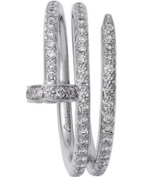 Cartier - White Gold And Pav Diamond Double Juste Un Clou Ring - Lyst