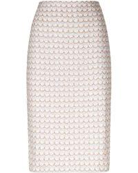 St. John - Knitted Pencil Skirt - Lyst