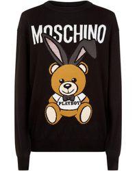 Moschino - Playboy Teddy Jumper - Lyst