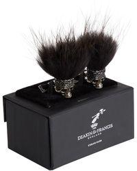 Deakin & Francis - Hairy Skull Embellished Cufflinks - Lyst