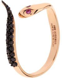 Bee Goddess   Serpent Black Diamond Ring   Lyst
