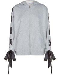 Forte Couture - Bow Zip Sweatshirt - Lyst