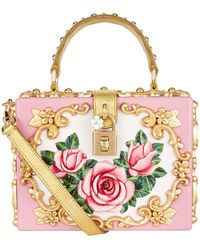 Dolce & Gabbana - Rose Embellished Top Handle Bag - Lyst