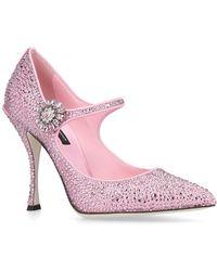 Dolce & Gabbana - Strass Lori Mary Janes 105 - Lyst