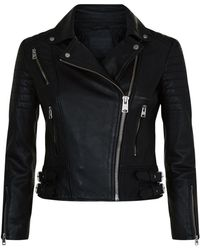 AllSaints - Papin Leather Biker Jacket - Lyst