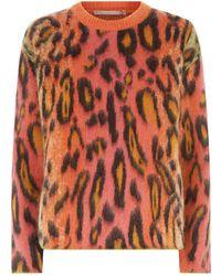 Stella McCartney - Neon Leopard Print Jumper - Lyst