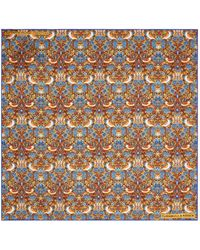 Turnbull & Asser - Floral And Bird Print Pocket Square - Lyst