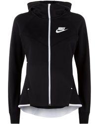 40ee19ebf028 Lyst - Nike Tech Fleece Windrunner Hoody in Pink